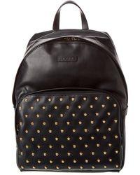 Versace Medusa Stud Leather Backpack - Black