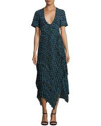 A.L.C. Kylia Silk Maxi Dress - Blue