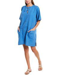 Emerson Fry India Collection Linen Caftan - Blue