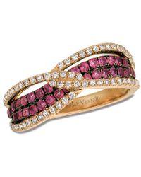 Le Vian - ® 14k Rose Gold 1.01 Ct. Tw. Diamond & Rhodolite Ring - Lyst