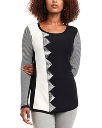 NIC+ZOE Plus Outer Angle Jumper - Black