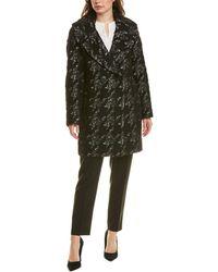 Elie Tahari Shiloh Wool & Alpaca-blend Coat - Black
