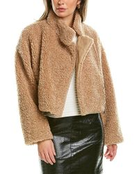 French Connection Iren Cropped Jacket - Brown