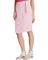 Brooks Brothers Wrap Skirt - Pink