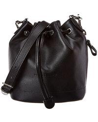 Longchamp Le Foulonne Small Leather Bucket Bag - Black