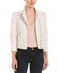 Rebecca Taylor Floral Leather Jacket - White