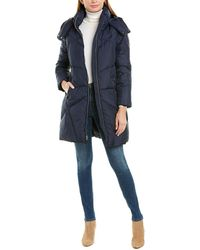 Cole Haan Quilted Coat - Blue