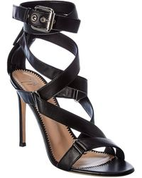 Giuseppe Zanotti Larissa Ankle Wrap Leather Sandal - Black