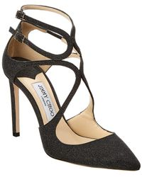 Jimmy Choo Lancer 100 Glitter Pump - Black