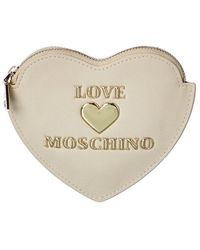 Love Moschino Coin Pouch - White