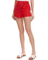 Jealous Tomato Bow Linen-blend Short - Red