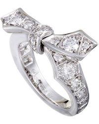 Mikimoto 18k White Gold 1.10 Ct. Tw. Diamond Bow Ring - Metallic