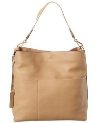Vince Camuto Risa Leather Hobo - Brown
