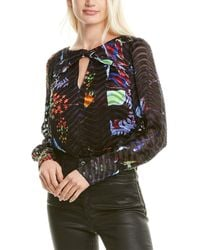 Tanya Taylor Hayden Silk-blend Top - Black
