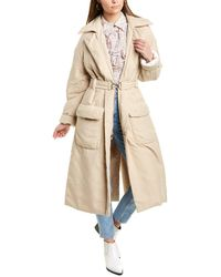 Tibi Clyde Quilted Puff Trench Coat - Brown