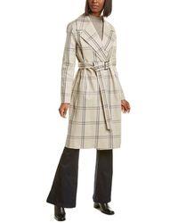 Lafayette 148 New York Sicily Wool-blend Coat - Brown