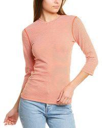 Three Dots 3/4-sleeve Top - Orange