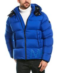 Moncler Quilted Down Coat - Blue