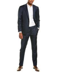 Hickey Freeman Sharkskin Tasmanian Suit - Blue