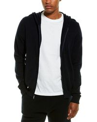 Phenix Jersey Full Zip Cashmere-blend Hoodie - Blue
