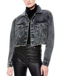 Alice + Olivia Puffed Sleeve Jacket - Black
