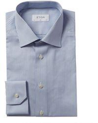 Eton of Sweden Slim Fit Dress Shirt - Blue