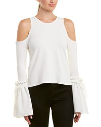 MILLY Cold-shoulder Top - White