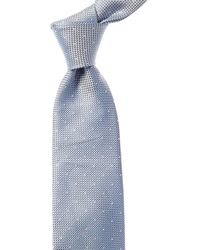 Reiss Liam Air Force Blue Dotted Silk Tie