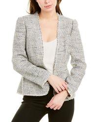 Rebecca Taylor Tweed Peplum Jacket - Grey