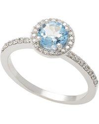 Effy - Fine Jewelry 14k 0.93 Ct. Tw. Diamond & Aquamarine Ring - Lyst
