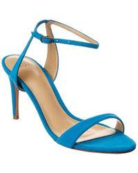 Alexandre Birman Willow 75 Suede Sandal - Blue