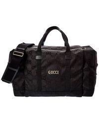 Gucci Off The Grid Canvas Duffel Bag - Black