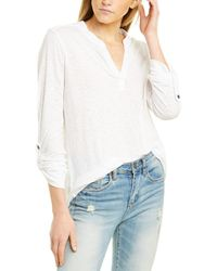 Three Dots Eco Knit Tunic - White