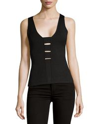 Narciso Rodriguez - Strappy Knit Tank Top - Lyst