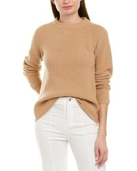 Vince Ribbed Cashmere Pullover - Brown
