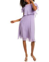 Max Mara S Maxmara Stiria Wool & Cashmere-blend Sheath Dress - Purple