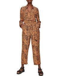 Whistles Safari Print Jumpsuit - Brown
