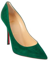 Christian Louboutin Decoltish Suede Pump - Green