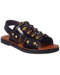 Dior Studded Leather Sandal - Black