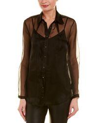 Nicole Miller Artelier Silk Blouse - Black