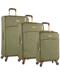 Anne Klein - Bellevue 3pc Set Quilted Expandable Luggage - Lyst