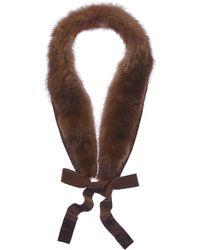 Max Mara Maxmara Natural Collar - Brown