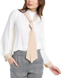 Alexis Dalista Silk Top - White
