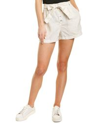 Bella Dahl Belted Button Front Short - White