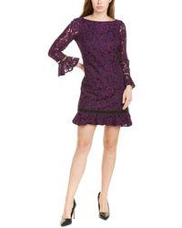 Eliza J Lace Shift Dress - Purple