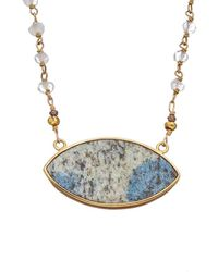 Alanna Bess Spring 14k Vermeil Gemstone Necklace - Multicolour