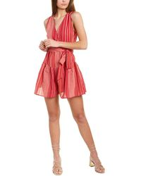Sage the Label Mauritius Linen-blend Romper - Red