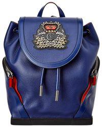 cd88552e241 Explorafunk Leather Backpack - Blue