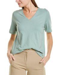 Eileen Fisher V-neck Top - Green