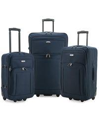 Elite Luggage Gondola 3pc Softside Rolling Luggage - Blue